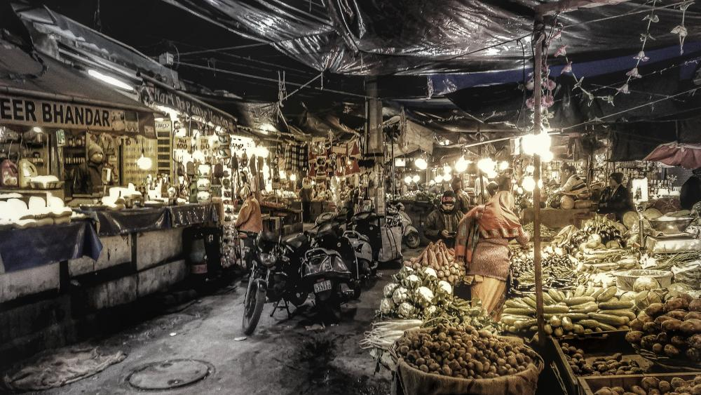 Food Market wallpaper