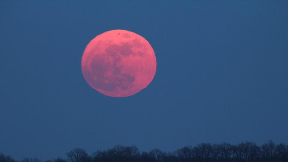 Red supermoon wallpaper