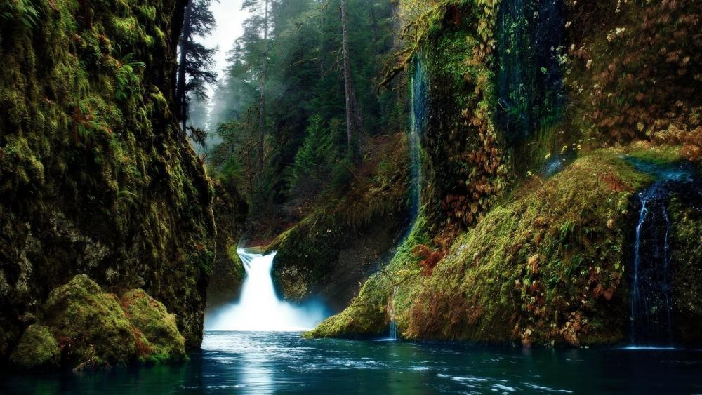 Punchbowl falls, Eagle Creek Canyon wallpaper