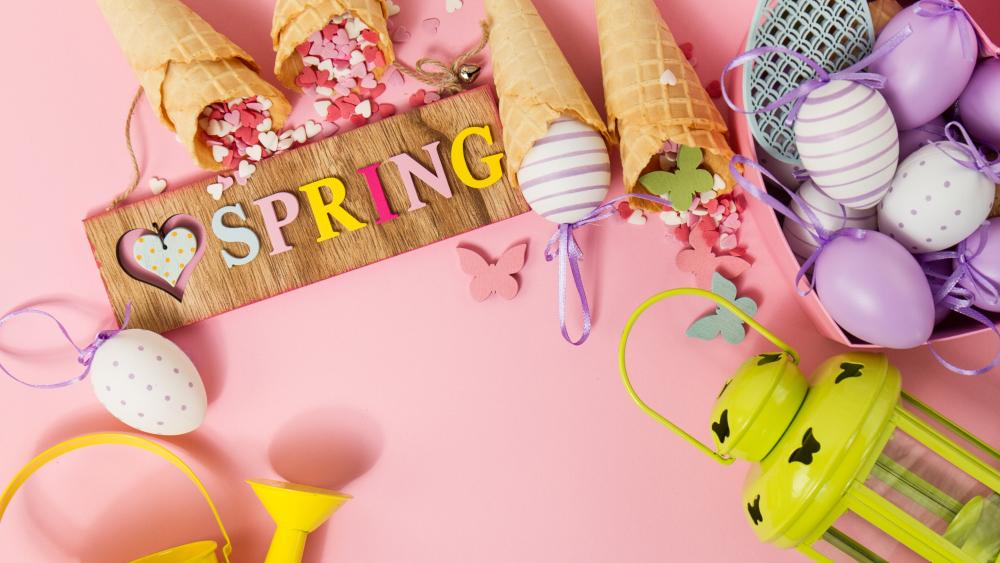 Easter spring wallpaper