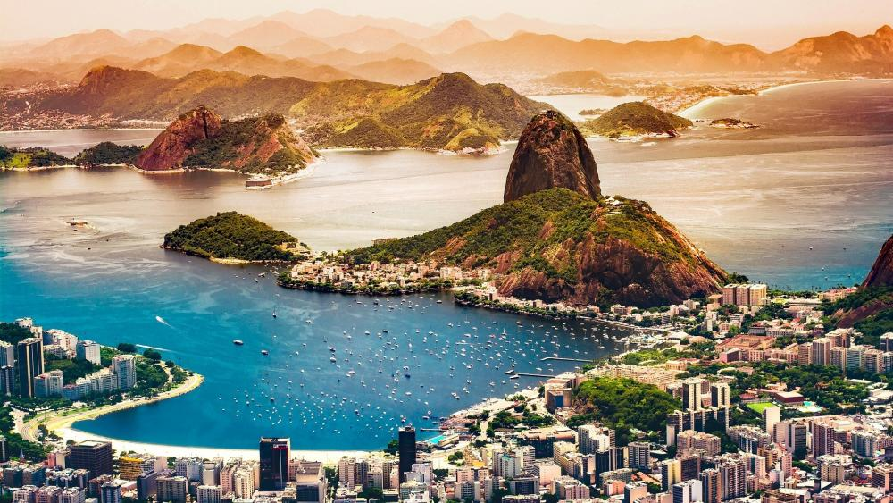 Guanabara Bay & Sugarloaf Mountain, Rio De Janeiro wallpaper