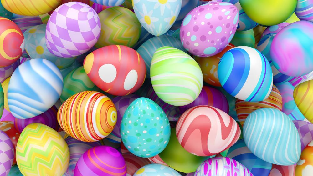 Easter Eggs 3D Graphics wallpaper