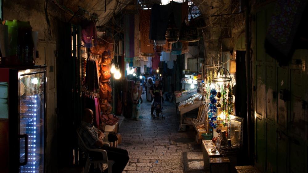 Alley in Israel wallpaper