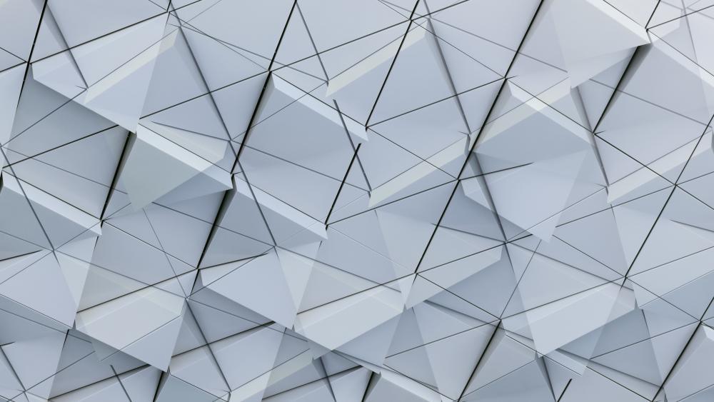 3D White Triangles wallpaper