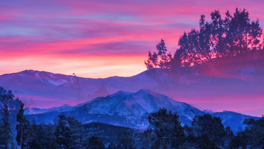 Glenwood Springs During Sunset wallpaper