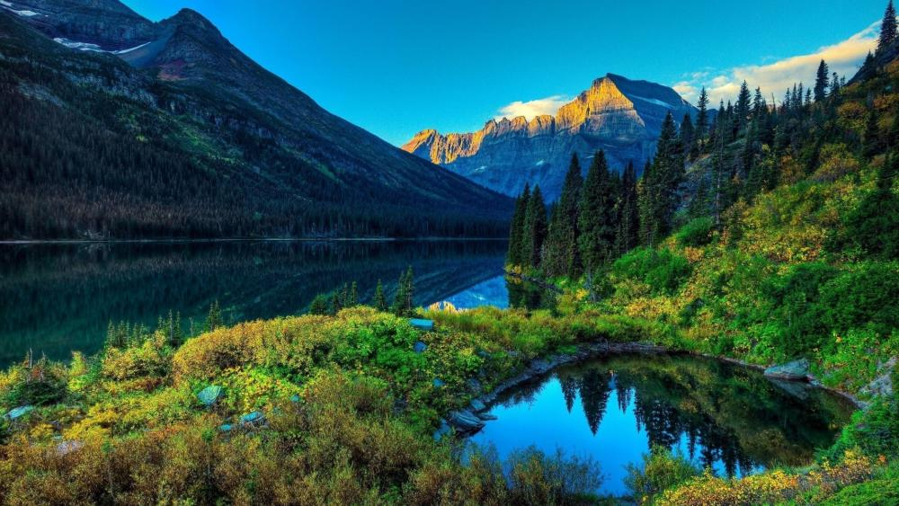 Grinnell Lake wallpaper