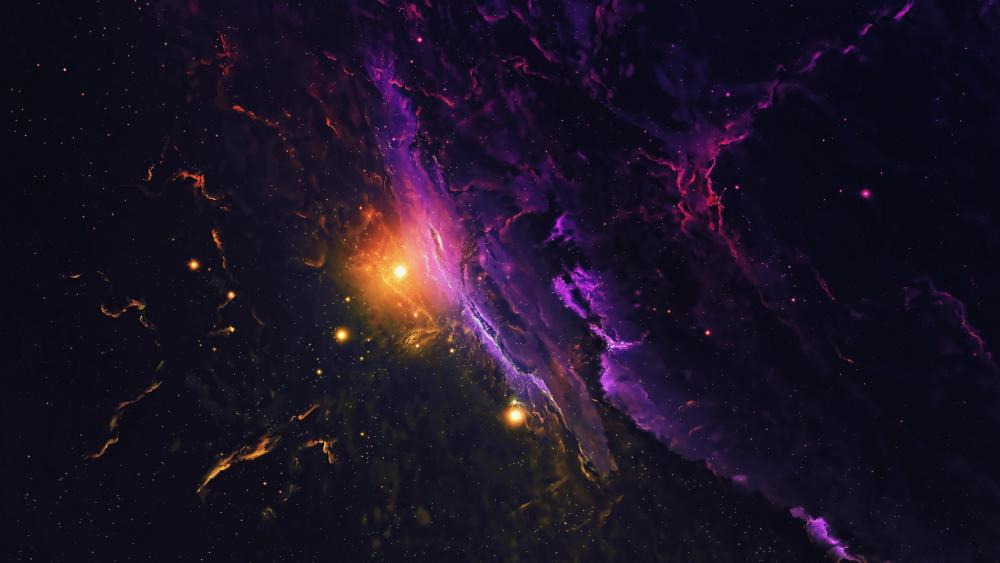 Galaxy in the space wallpaper