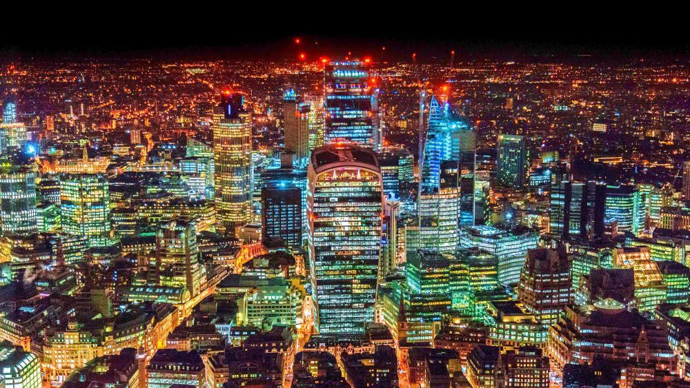 London city lights wallpaper