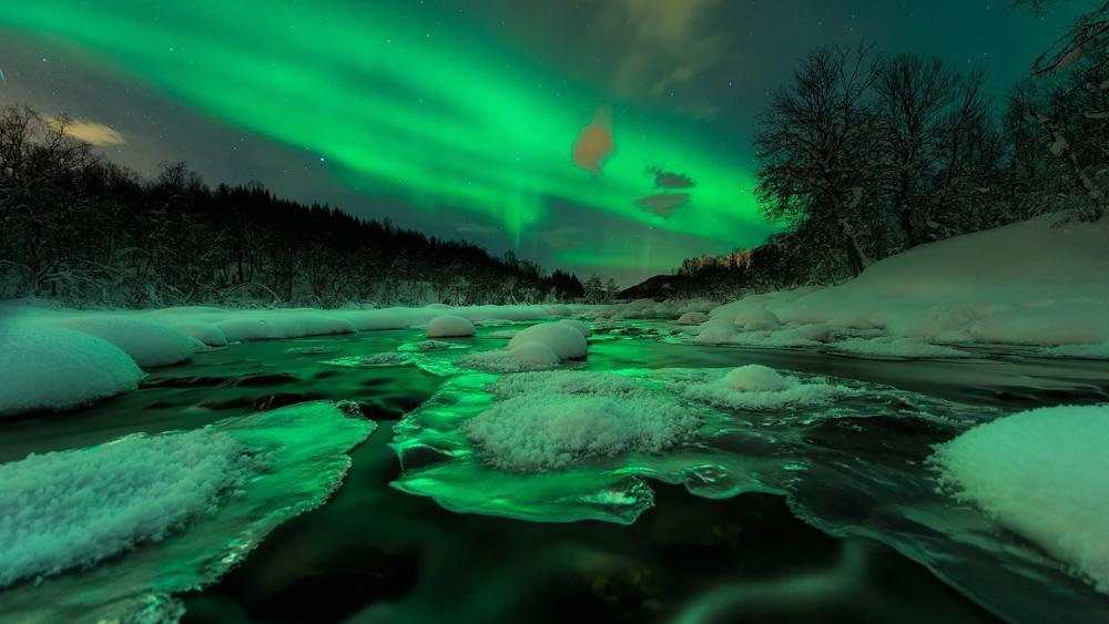 Aurora Borealis in Norway wallpaper