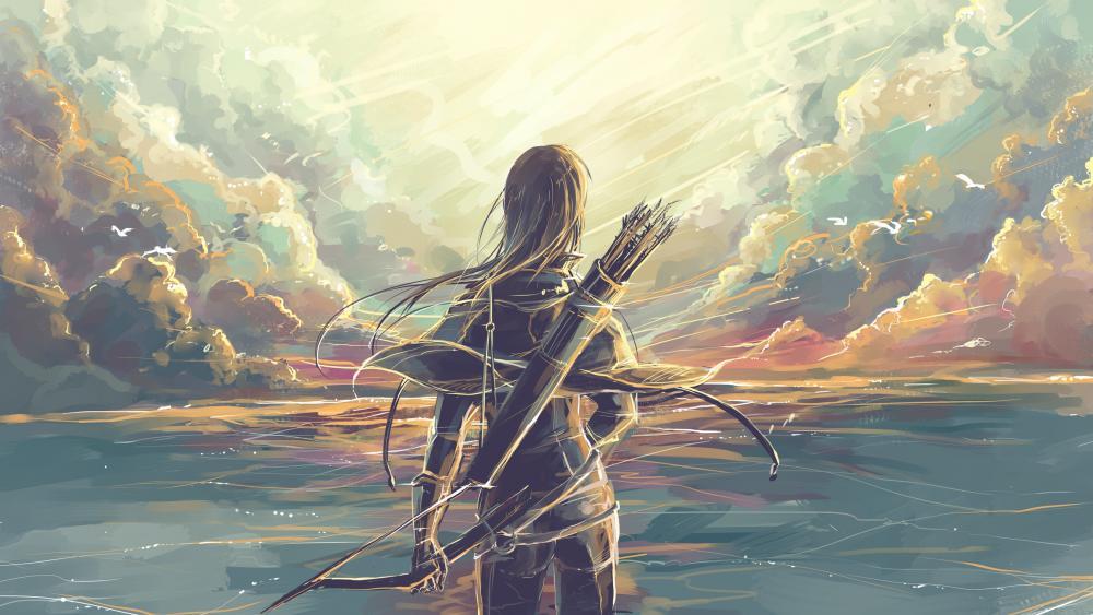 Archer fantasy art wallpaper
