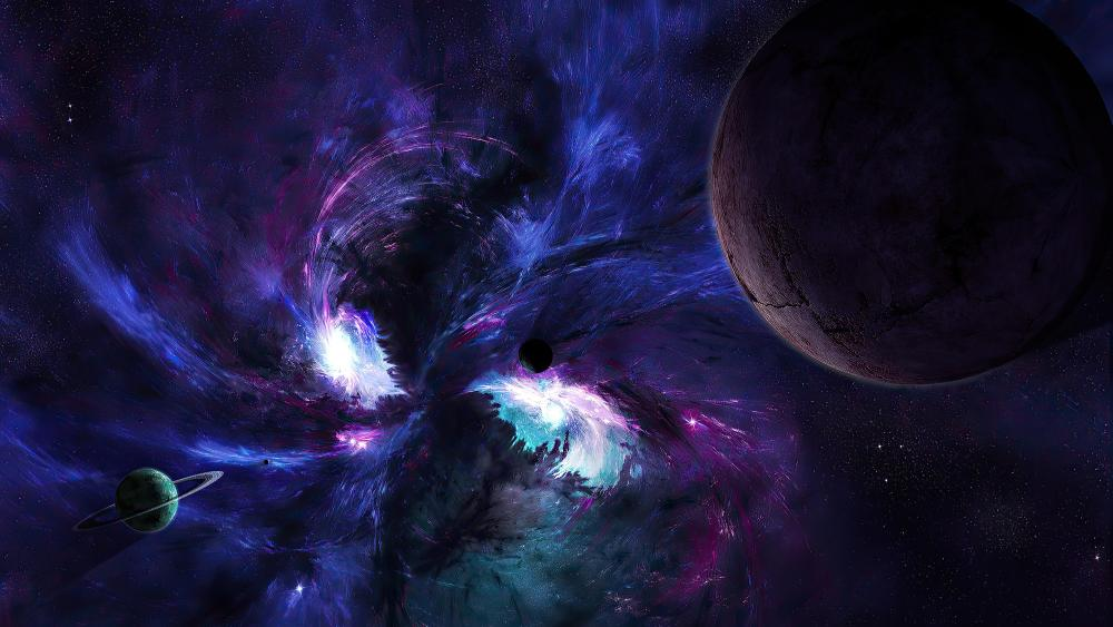 Science fiction planets wallpaper