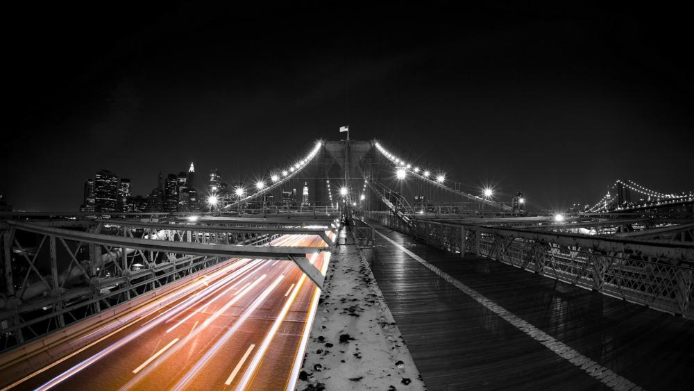 Brooklyn Bridge Black And White wallpaper