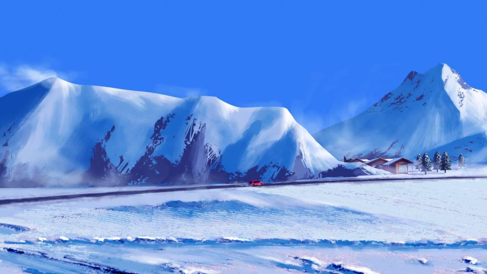 Winter trip wallpaper