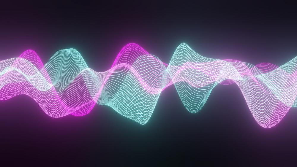 Audio Lines wallpaper