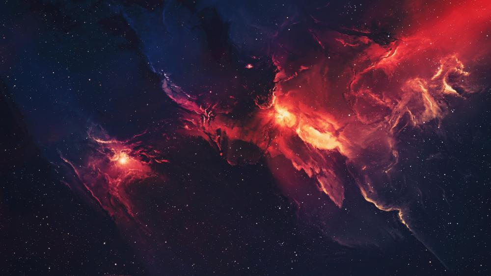 Red nebula wallpaper
