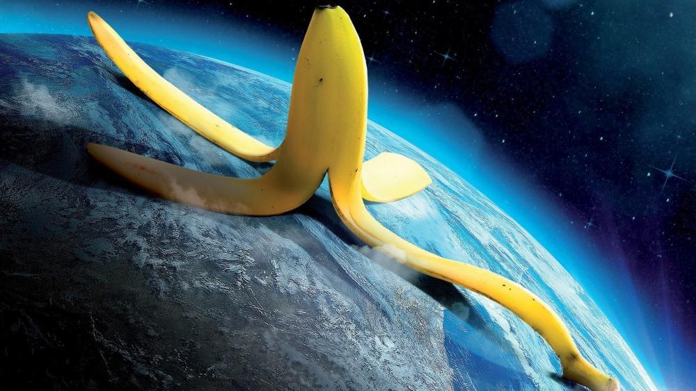 Banana peel wallpaper