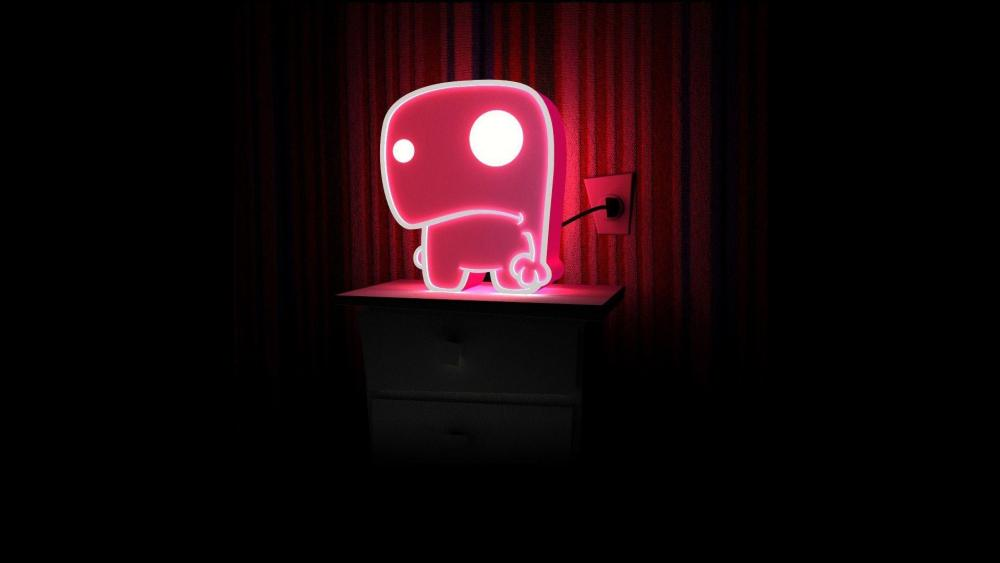 Funny neon light wallpaper