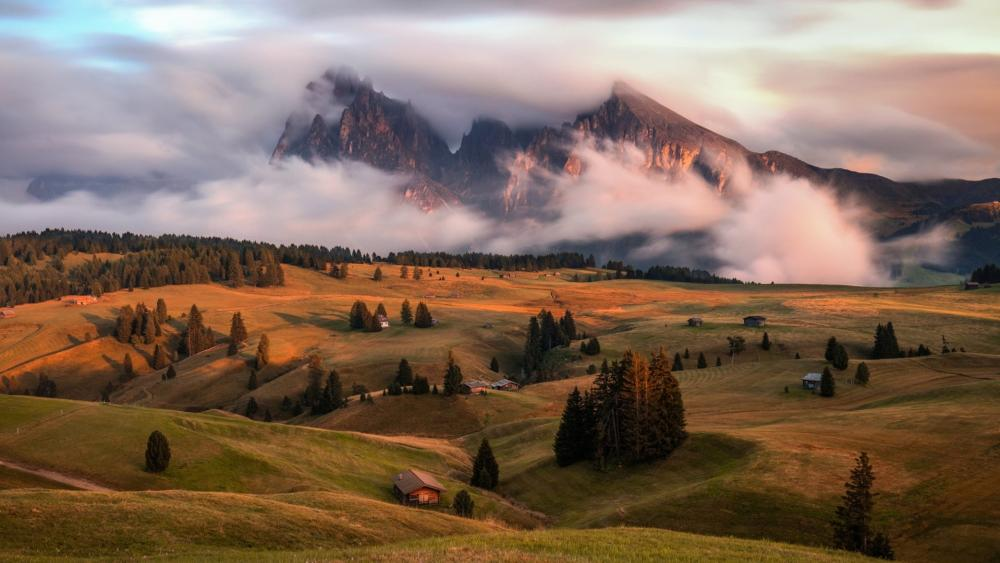 Seiser Alm at fall wallpaper