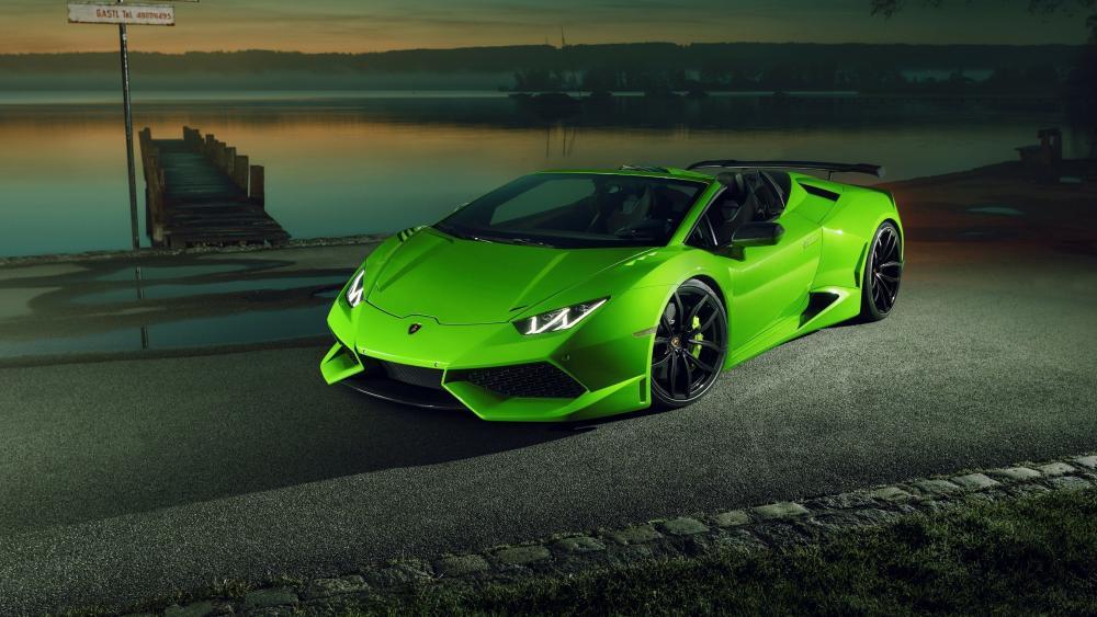 Lamborghini Huracan Spyder Green wallpaper