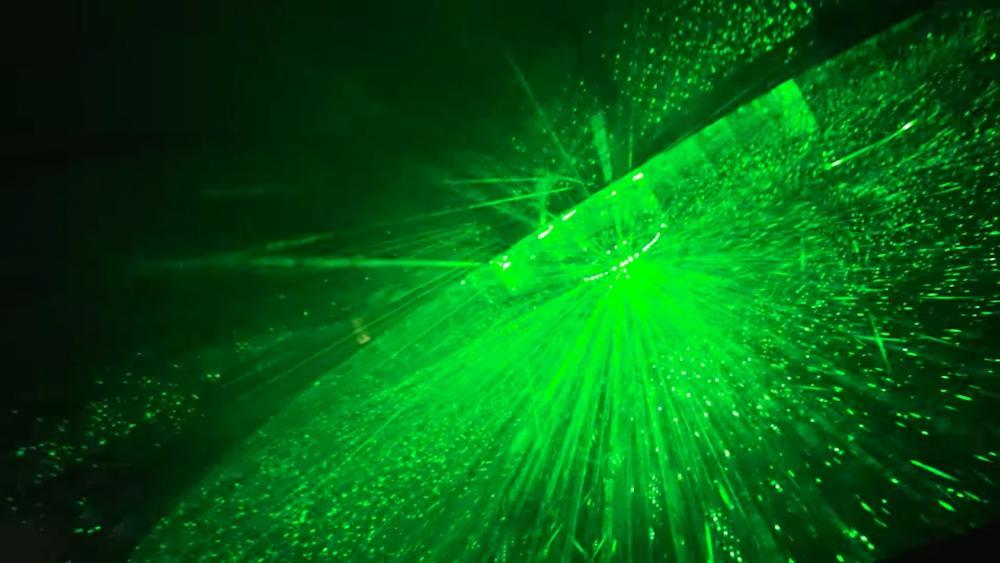 Black and green lights wallpaper