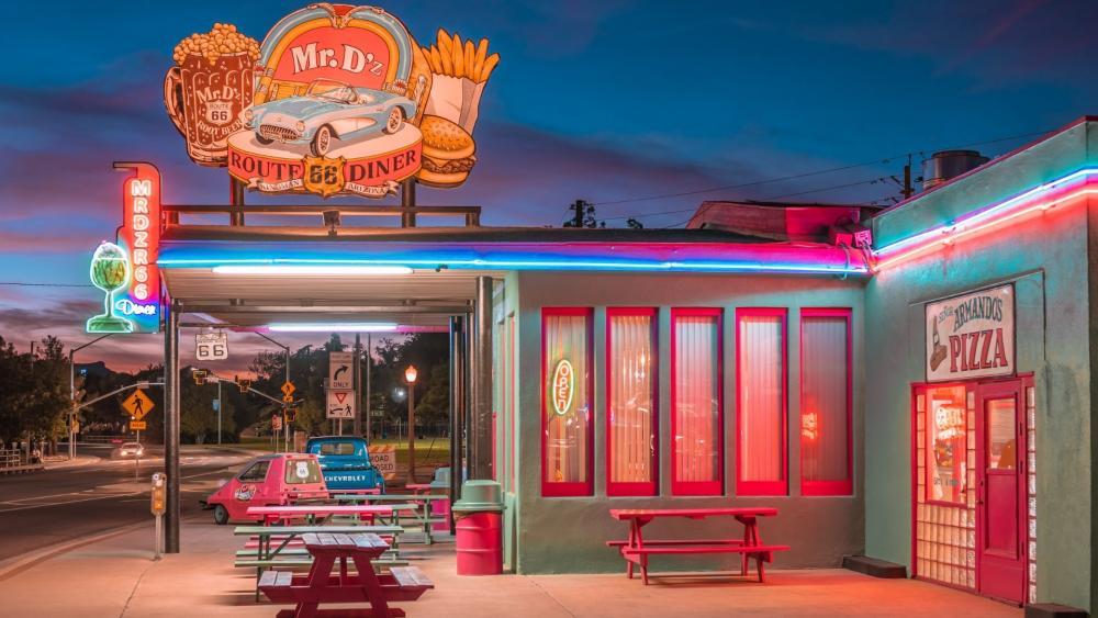 Mr D'z Route 66 Diner wallpaper