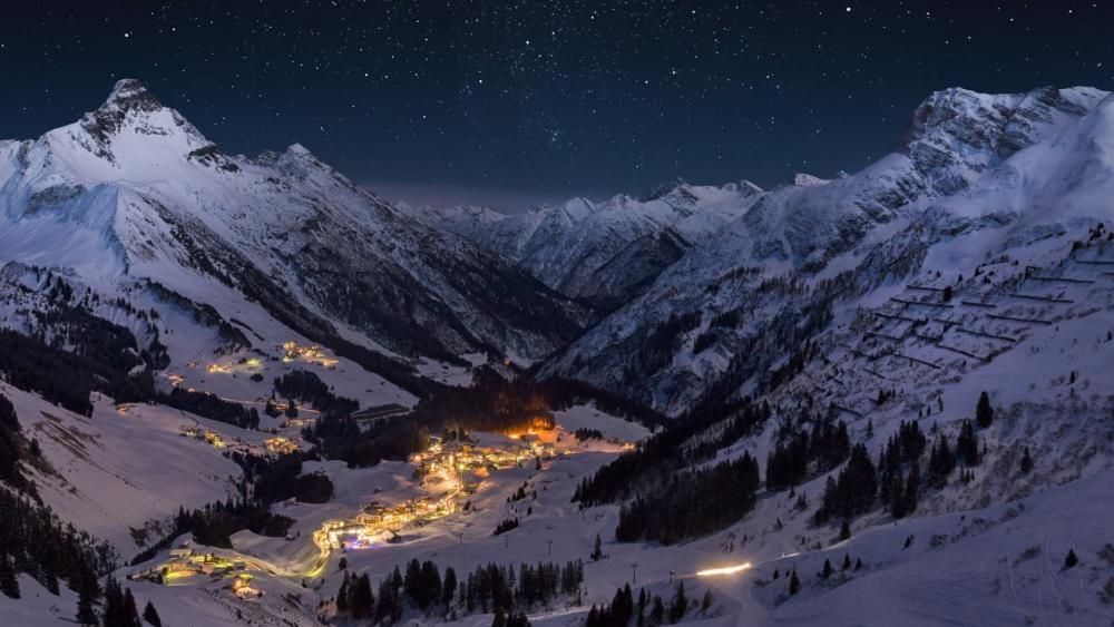 Obertauern starry night wallpaper