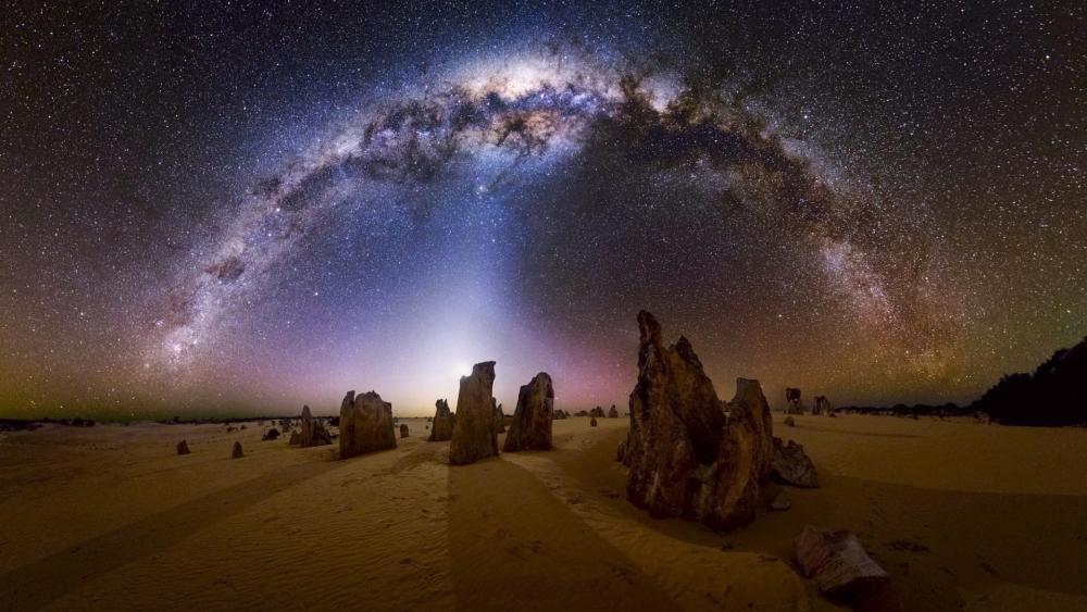 Milky Way over Western Australia wallpaper