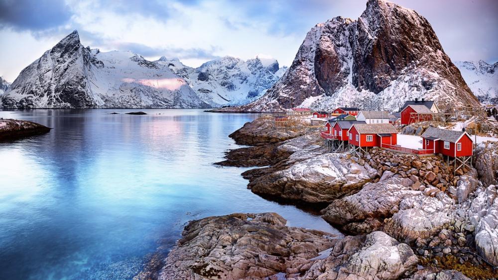 Hamnøy fishing village wallpaper