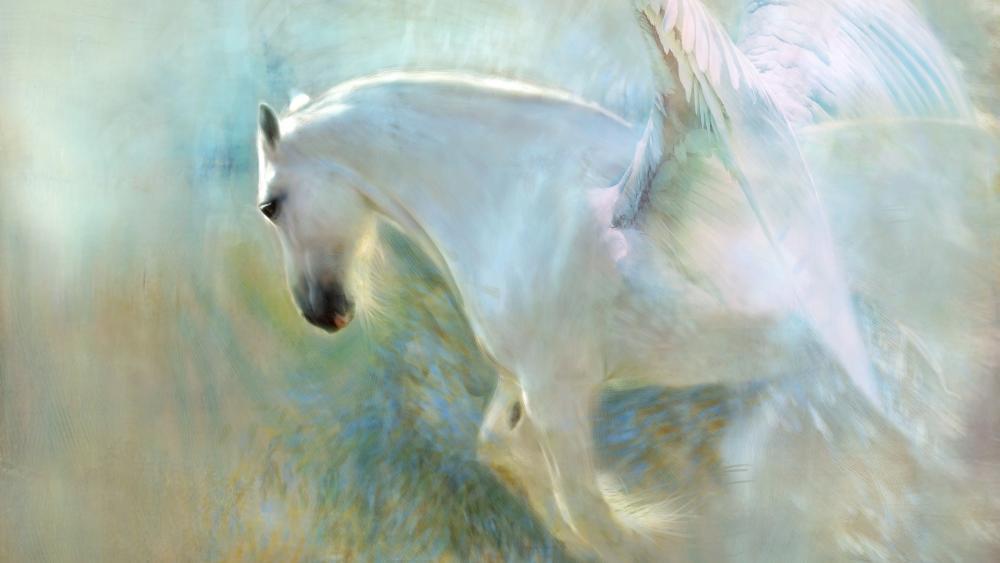 White Pegasus wallpaper