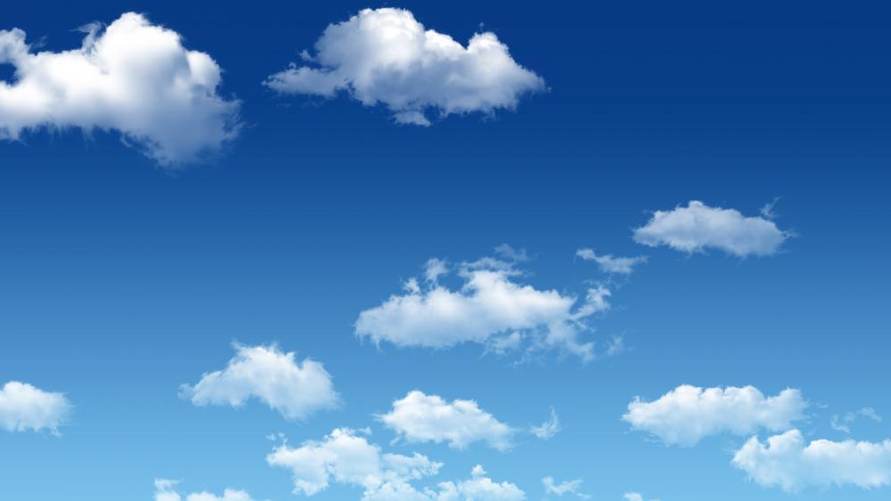 Fluffy clouds wallpaper