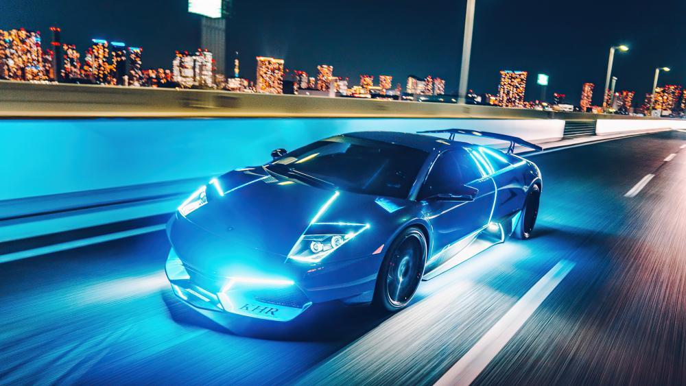 Neon Lamborghini Murcielago wallpaper