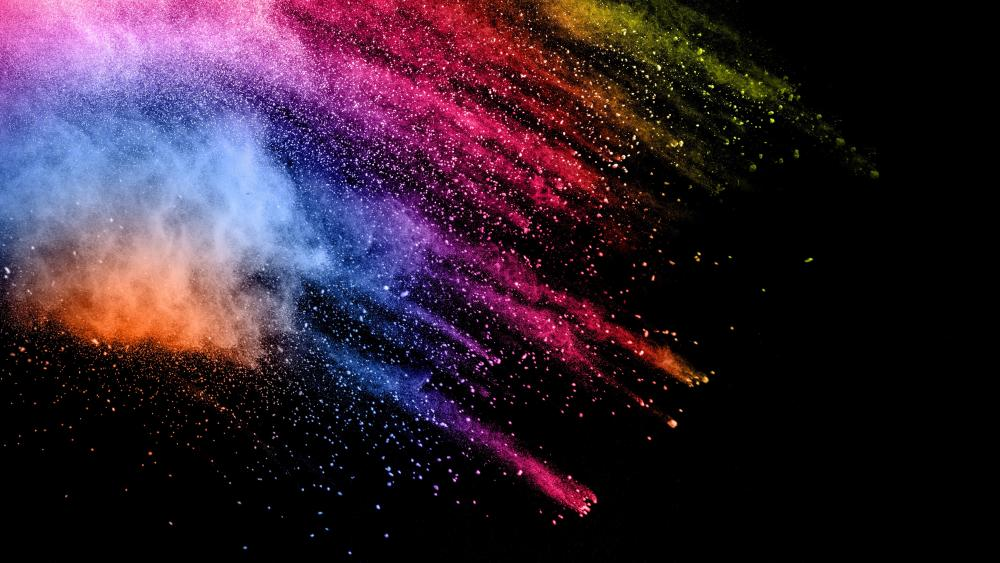 Colorful dust wallpaper