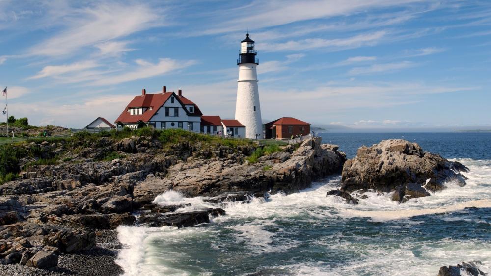 Portland Lighthouse at Cape Elizabeth wallpaper