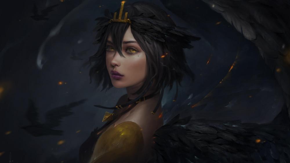 Dark fantasy woman wallpaper