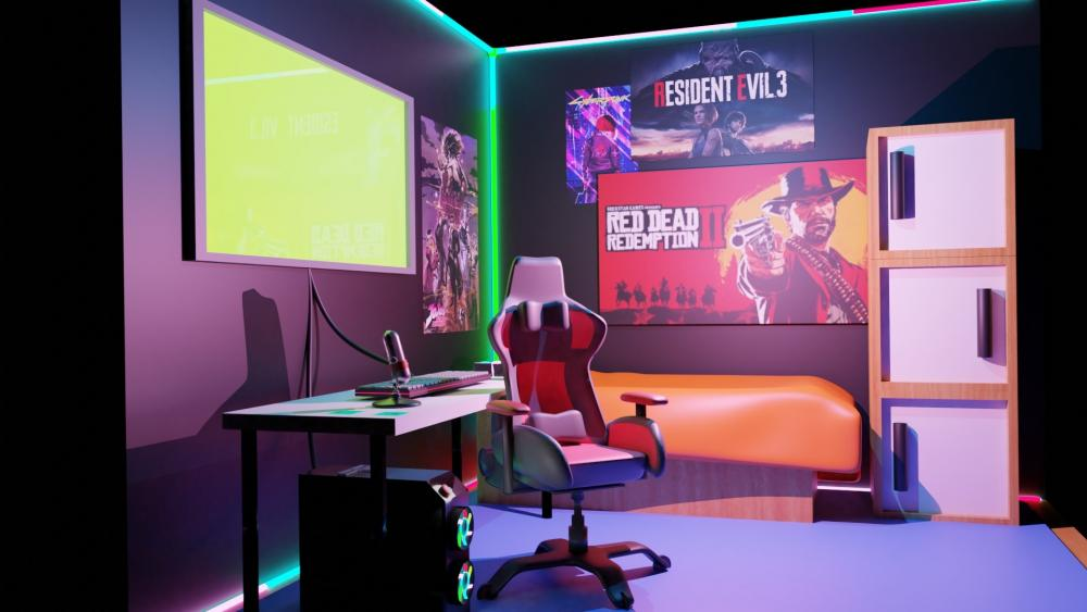 Gamer Room wallpaper