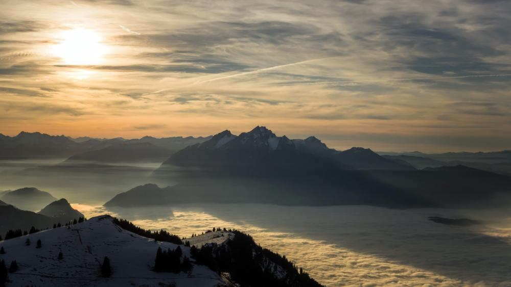 View from Rigi, Switzerland wallpaper
