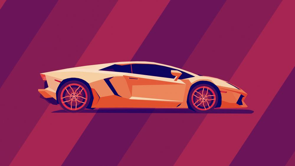 Minimal Lamborghini Aventador wallpaper