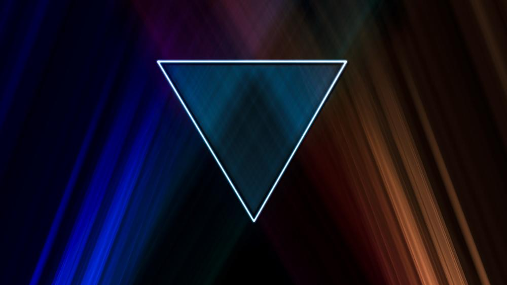 Triangle and light  wallpaper