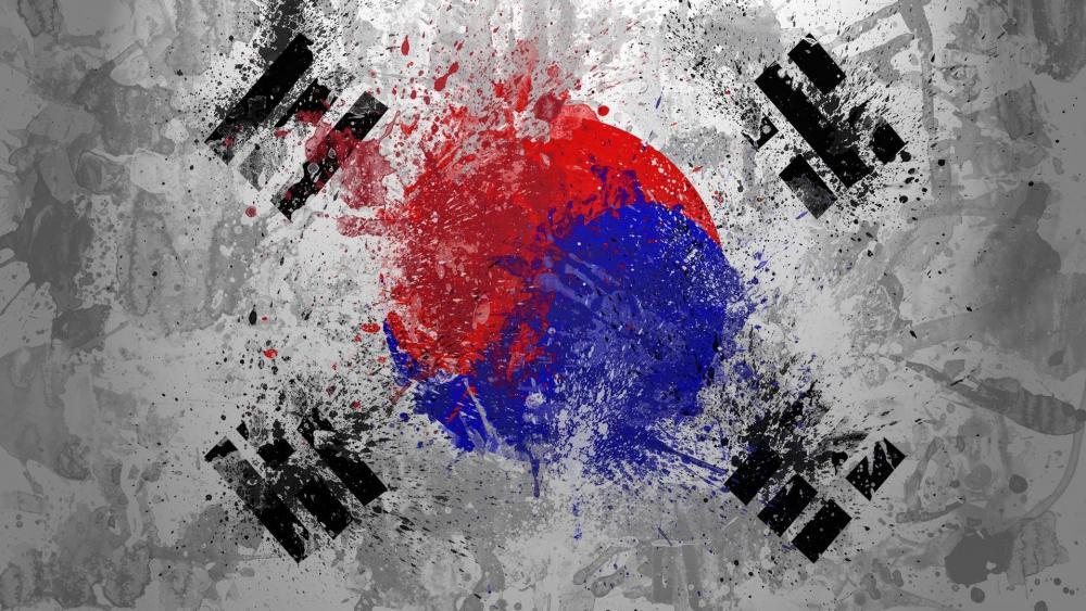 Flag South Korea wallpaper