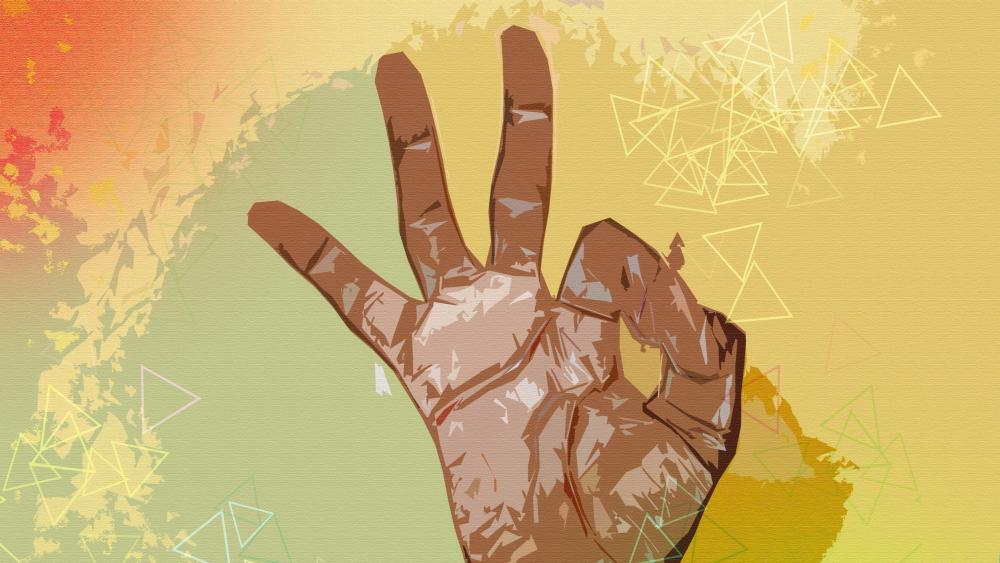 Finger ok wallpaper