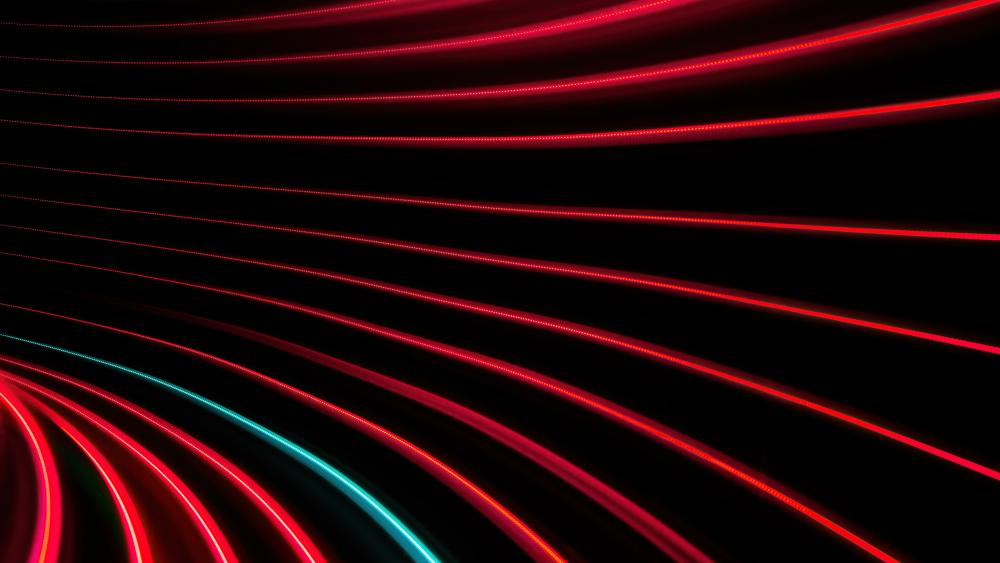 Swirl of red and black lines wallpaper