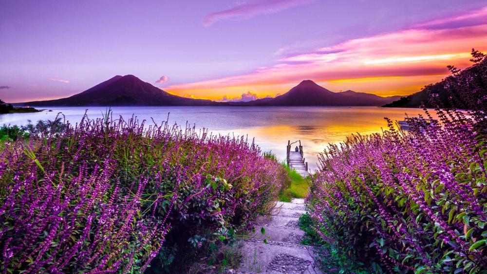 Lake Atitlán wallpaper