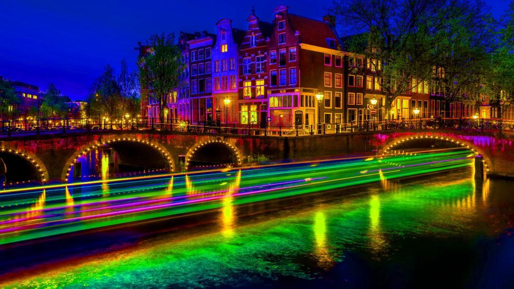 Keizersgracht Canal, Amsterdam wallpaper