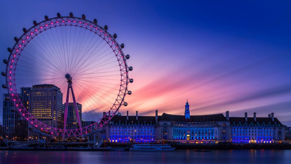 Sunrise in London Eye wallpaper