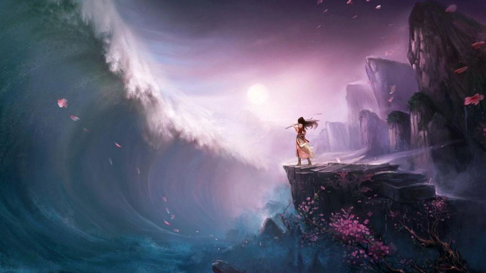 Fantasy anime art wallpaper