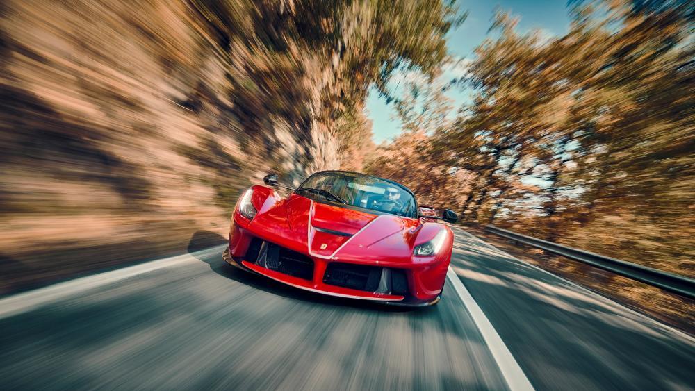 Ferrari La Ferrari Aperta Red wallpaper