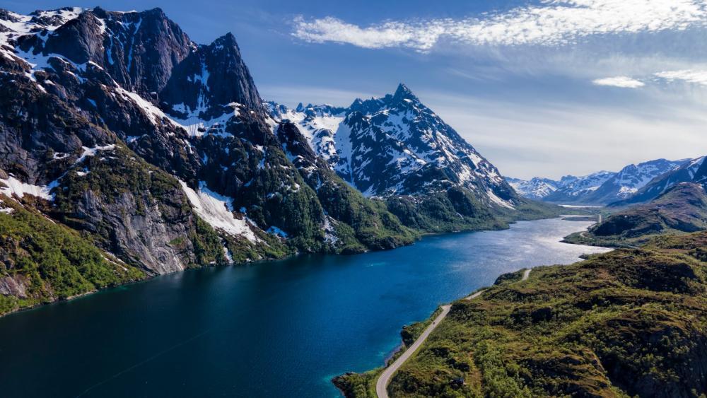 Mountains in Lofoten, Norway wallpaper