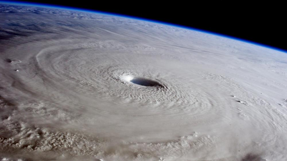 Typhoon Maysak from the Space Station wallpaper