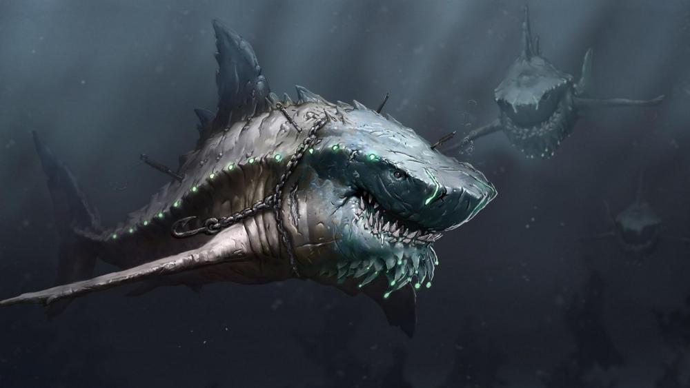 Megalodon sharks wallpaper