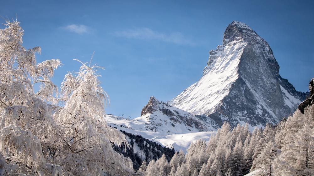 Matterhorn in winter wallpaper